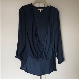 Urban Outfitters Blue Silk Top